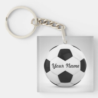 Soccer Ball Personalized for Sports Occasions Single-Sided Square Acrylic Keychain