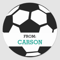 Soccer Ball Personalized From Sports Themed Party Classic Round Sticker