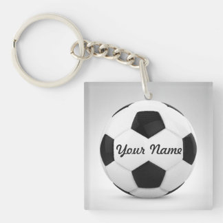 Soccer Ball Personalized Gift Ideas Double-Sided Square Acrylic Keychain