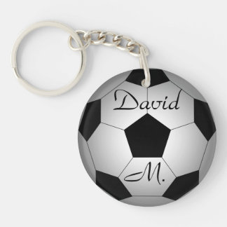 Soccer ball, personalized keychain