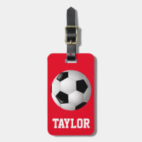 Soccer Ball Personalized Luggage Tag