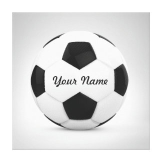 Soccer Ball Personalized Name Canvas Print
