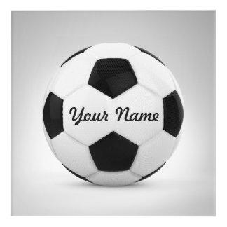 Soccer Ball Personalized Name Decor Acrylic Wall Art