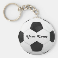 Soccer Ball Personalized Name Keychain at Zazzle