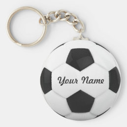 Soccer Ball Personalized Name Keychain