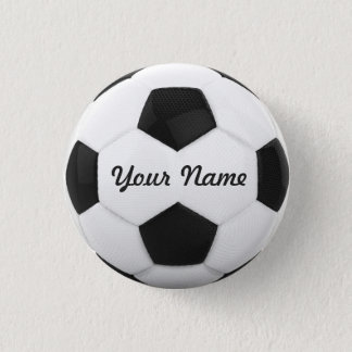 Soccer Ball Personalized Name Pinback Button