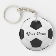 Soccer Ball Personalized Name Sport Keychain at Zazzle