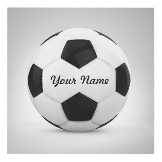 Soccer Ball Personalized Name Sport Panel Wall Art