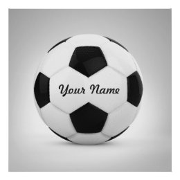 Soccer Ball Personalized Name Sport Poster ...