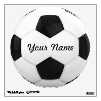 Soccer Ball Personalized Name Sport Wall Sticker