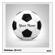 Soccer Ball Personalized Name Wall Decal