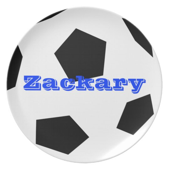 Soccer Ball Personalized Plate