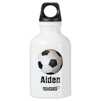 Soccer Ball Personalized Water Bottle