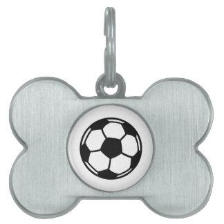 Soccer ball pet tag