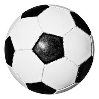 Soccer Ball Photo Design 5.25x5.25 Square Paper Invitation Card