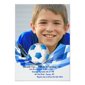 Soccer Ball Photo Invitation