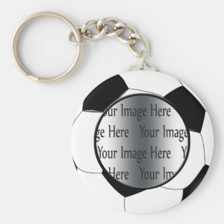 soccer ball photo keychain