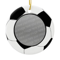 Soccer ball photo ornament