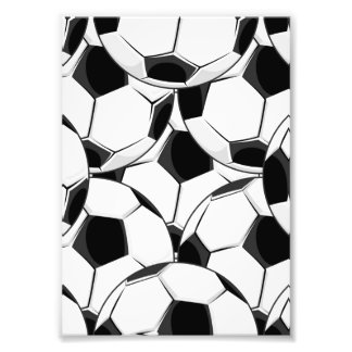 Soccer Ball Pile Pattern Photographic Print