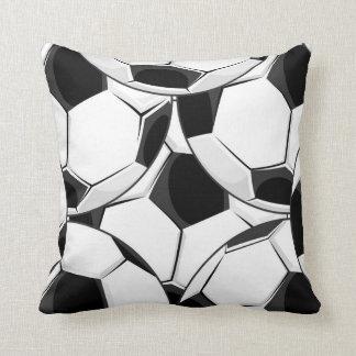 Soccer Ball Pile Pattern Throw Pillows