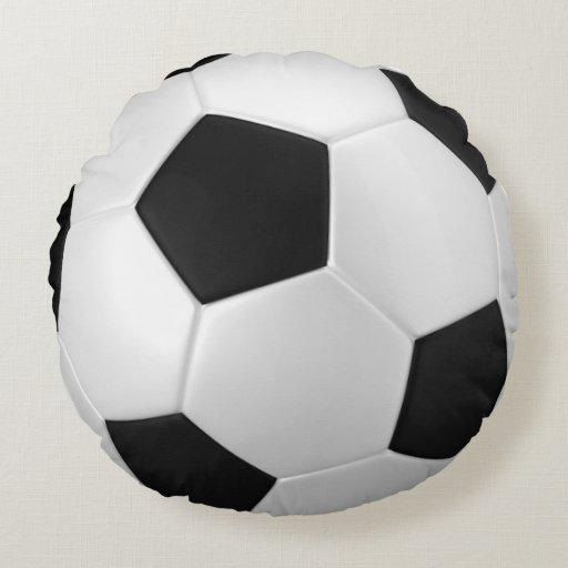Squishy Soccer Ball Pillow : Soccer Ball Pillow Round Pillow Zazzle