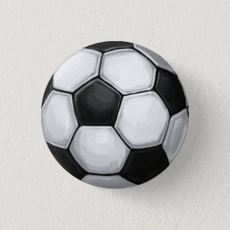 Soccer Ball Pinback Button
