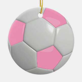 Soccer Ball | Pink Ceramic Ornament