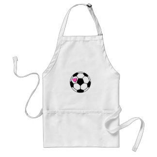 Soccer Ball Pink Hrt Adult Apron