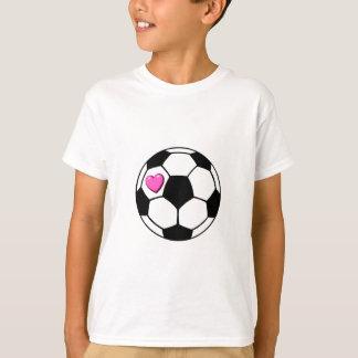Soccer Ball Pink Hrt T-Shirt