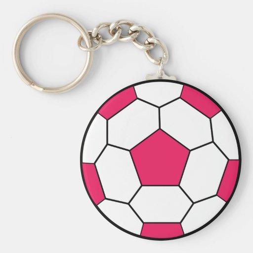 Soccer Ball Pink Keychain