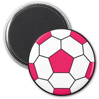 Soccer Ball Pink Magnet