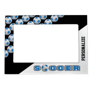 Soccer Ball Player   Blue Magnetic Frame