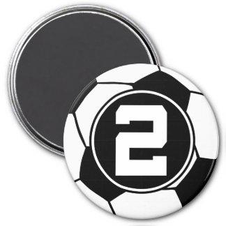 Soccer Ball Player Number 2 Stocking Stuffer Magnet