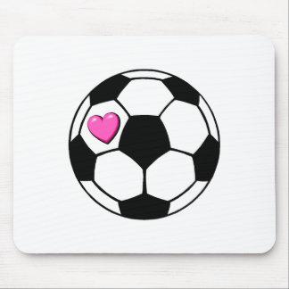 Soccer Ball (Pnk Hrt) Mouse Pad