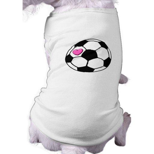 Soccer Ball (Pnk Hrt) Pet Tee