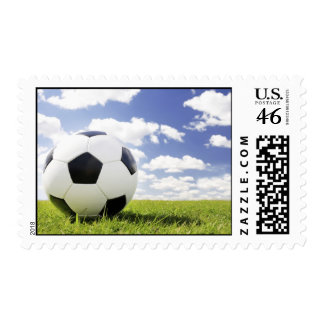 soccer ball postage stamp