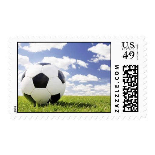 soccer ball postage stamp