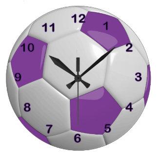 Soccer Ball   Purple Clocks