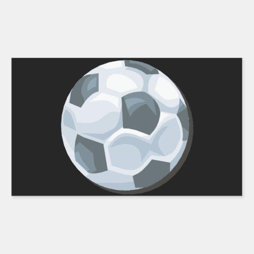 Soccer Ball Rectangular Stickers