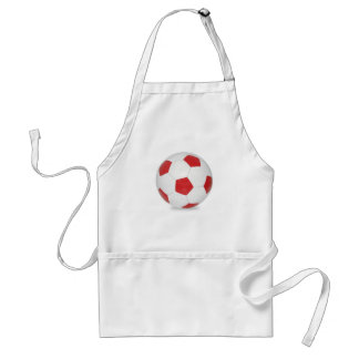 Soccer ball red adult apron