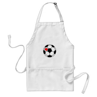 Soccer Ball (Red Heart) Adult Apron