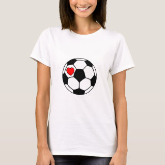 Soccer Ball (Red Heart) T-Shirt