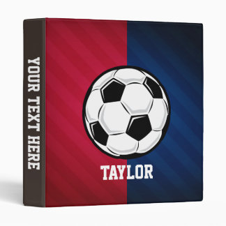 Soccer Ball; Red, White, and Blue Binder