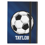 Soccer Ball; Red, White, and Blue iPad Air Cases