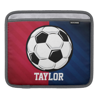 Soccer Ball; Red, White, and Blue iPad Sleeve