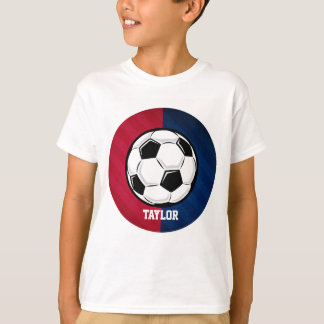 Soccer Ball; Red, White, and Blue T-Shirt