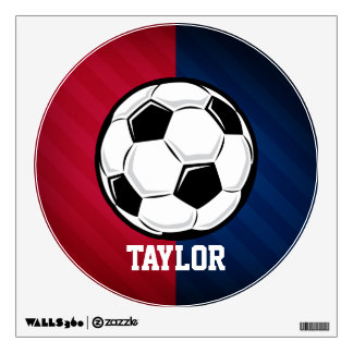 Soccer Ball; Red, White, and Blue Room Sticker