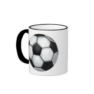 Soccer Ball Ringer Coffee Mug