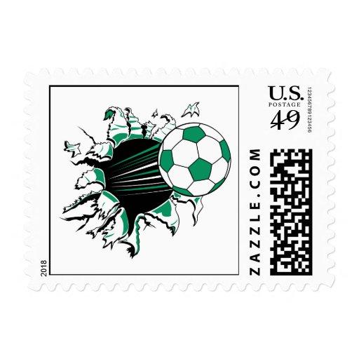 soccer ball ripping thru stamps