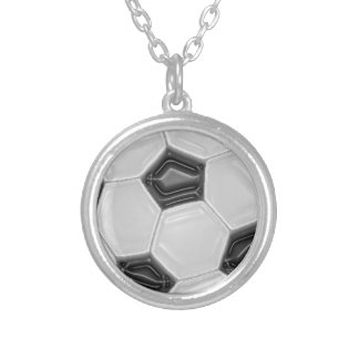 Soccer Ball Round Pendant Necklace